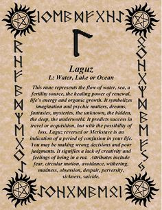 RUNE OF THE DAY! THE WATER RUNE GO WITH THE FLOW, BLESSINGS! GALLAN Daily Facebook Specials & Share to Win Contests! Like https://www.fa...