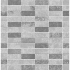 Ceramica Small Tile Effect Wallpaper Grey / Soft Grey (FD40117)