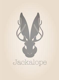 jackalope outline - Google Search