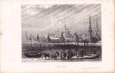 Gravure-XIXe-Kremlin-Moscou-Moscow-Russie-Russia-1840