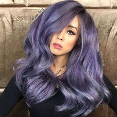 "Amazing ""smoked amethyst"" by @Guy_Tang! He used #KenraColor 7SM Demi with 2"" of Blue Booster and 2"" Red Booster, 7SM Demi with 2"" Blue Booster, and 7SM with 4"" Violet Booster. Visit the link in our profile to enter the Guy Tang Hair Battle! #MetallicObsession #GuyTangKenra"