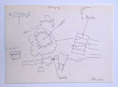 Carlos Alcolea - S.T, 1973, bolígrafo/papel, 16 x 22,5 cm.