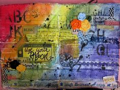 Use Your Stash - Art Journaling With RIBBON! + Video