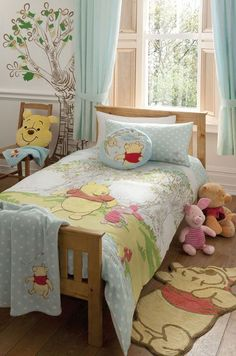 Winne the Pooh bedding set.  http://www.beddingworld.co.uk/p/Disney_Poohs_Hunny_Spot_Bedding_Set.htm