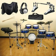 #Musical #Instruments: Roland TD-30KV V-Drums (Blue Sparkle) BUNDLE w/ Drum Monitor & Hardware