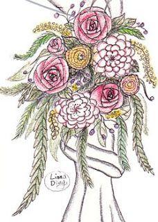 Feature Art Design: Sketching - Wedding Arch & Bird