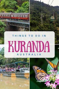 All the best things to do in Kuranda, including the must do Kuranda Skyrail & Kuranda Scenic Railway. Australia Travel Guide, Australia Trip, Visit Australia, Australia Holidays, Travel Advice, Travel Tips, Time Travel, Travel With Kids, Family Travel