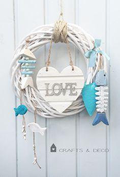 Türkränze - ♥ I Love Sommer ♥ Türkranz - ein Designerstück von CraftsandDeco bei…