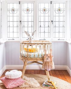 Rattan bassinet by Byron Bay Hanging Chairs Styling and Photography by Kara Hynes