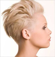 15 Very Cool Shaved Pixie Haircuts: #2. Shaved Pixie Hair