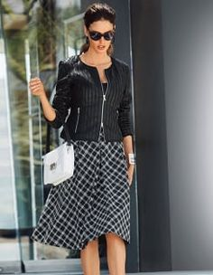 Skirt, Top, double pack, Sunglasses, Shoulder bag, Bracelet, Leather jacket, nappa lamb