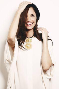 Eugenia Silva wearing a Lio de Faldas blouse