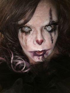 Creepy vintage clown  Makeup by me Creepy Vintage, Vintage Clown, Clown Makeup, Halloween Face Makeup, Horror Makeup, Glitter, Make Up, Scary Makeup, Sequins