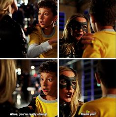 Her winking at him was the most adorable thing ever how can you not love Dinah Laurel Lance