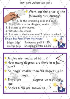 Teacher's Pet Activities & Games » Year 4 Maths Challenge Cards (pack 2) » EYFS, KS1, KS2 classroom activity and game resources » A Sparklebox alternative