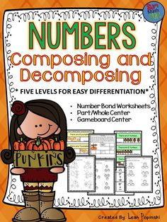 This number bond resource is completely scaffolded for easy differentiation. Composing and decomposing numbers is a huge part of the Kindergarten Math Common Core and Texas TEKS. This resource aligns most closely to Kindergarten standards but it is also a