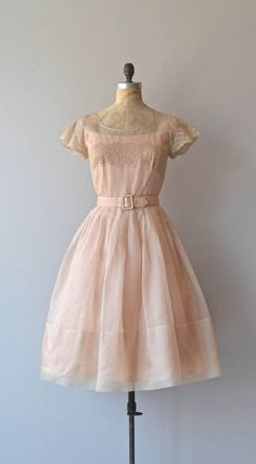 Absolute Music dress vintage 1950s dress blush by DearGolden