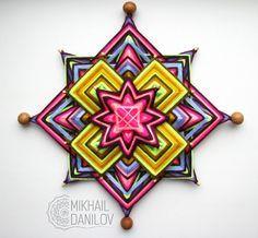 Mandala tejido Chile por YarnMandala en Etsy