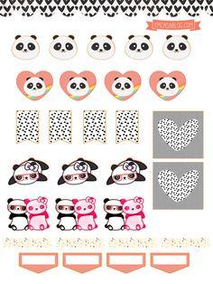 FREE Printable Panda Planner Stickers