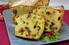 Plum-cake of candied fruits traditional cuisine Ana Sevilla Candied Fruit, Plum Cake, Quiche, French Toast, Sweets, Bread, Traditional, Breakfast, Desserts