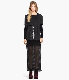 Long Mesh Skirt Product Detail | H&M US