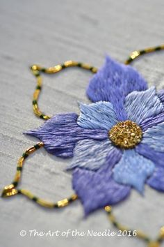 Silk & Gold Rose embroidery kit suitable for all levels, now available on…