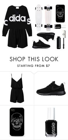 """""""x adidas x"""" by baludna ❤ liked on Polyvore featuring NLY Trend, adidas, NIKE, Essie and CK One"""