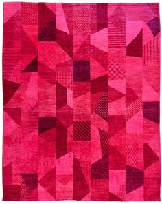 Overdyed Pure Wool Rug Darya Collection // LOOM Love the colors--especially for my bedroom, a focal point? Textiles, Textile Patterns, Color Patterns, Print Patterns, Textile Art, Claude Monet, Loom Love, Magic Carpet, Fuchsia