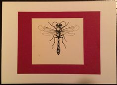 Wasp Greeting Card by HandCutGreetings on Etsy https://www.etsy.com/listing/247983774/wasp-greeting-card