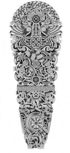 Viking Tattoos For Men, Viking Warrior Tattoos, Viking Rune Tattoo, Norse Tattoo, Viking Tattoo Design, Warrior Tattoo Sleeve, Celtic Sleeve Tattoos, Viking Tattoo Sleeve, Full Sleeve Tattoos