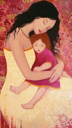 """rfsnyder: """"Mother and son"""" Mother Daughter Art, Mother Art, Mother And Child, Art Du Monde, Love Illustration, Mothers Love, Art For Kids, Street Art, Sketches"""