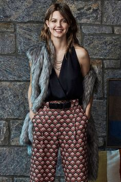 Members Only Cap Sleeve Faux Fur Vest - Urban Outfitters