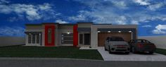 4 Bedroom House Plan - My Building Plans South Africa 3d House Plans, 4 Bedroom House Plans, Modern House Plans, Modern House Design, My Building, Building Plans, House Plans South Africa, My Dream Home, Dream Homes