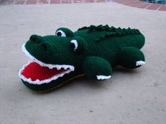 crocheted alligator