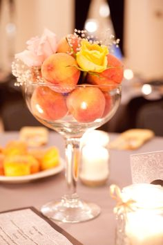 baby's breath and peaches | Pin by Mary Whitlock on a & e event planning | Pinterest