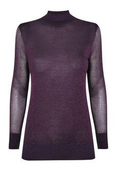 Metallic Lurex Jumper, £40, Wallis Jumper, Men Sweater, Wallis, Backstage, Fall Winter, Metallic, Turtle Neck, Yellow, Purple