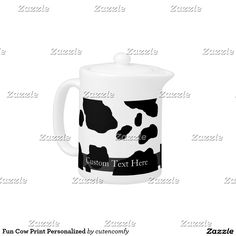 Fun Cow Print Personalized Teapot