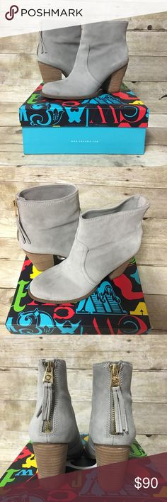 Grey C Wonder Booties - worn once! Grey booties from C Wonder. Worn once. Suede with gold zipper on back. Small scuff on side (see last photo). Originally $148 and I purchased for $120 C Wonder Shoes Ankle Boots & Booties
