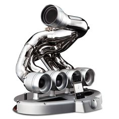 Formula One Speaker Dock - his is the iPhone speaker dock made from the exhaust manifold of a retired Formula One race car.