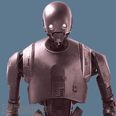 K-2SO (Kay-Tuesso) the droid was originally created for use in the Galactic Empire's armed forces and ´cos  a  lot of the many Imperial characters have English accents in the original Star Wars, he also has it.