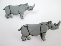 Check out Rhinoceros Accessories Jewelry Women's Jewelry Earrings Animal Earrings in Handmade Fashion Earrings Children's Earrings Earings Zoo on MarysRemedies