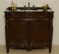 "Max Furniture 42"" Devon Single Vanity by B  Wood: Select Hardwood Solids & Solid Wood Veneers  Finish: Brown  Tops: Granite  Faucets: Not Included  Sinks: Porcelain  http://www.maxfurniture.com/detail-Bathroom-Single-Vanities-42-Devon-Single-Vanity-by-BI-28-44101.aspx"