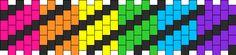 Easy Rainbow With Black Swirrel Kandi Pattern