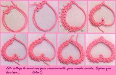 Celes fabrics :): Heart in macramé