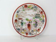 Geisha Girls Plate Japan Porcelain Dish Japanese by MicheleACaron