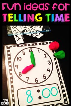 First grade telling time gamesYou can find Telling time and more on our website.First grade telling time games Telling Time Games, Telling Time Activities, 1st Grade Activities, Teaching Time, Montessori Activities, Teaching Math, Kindergarten Math, Telling Time For Kids, Time Games For Kids