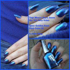 blue, moyra, nailpolish,