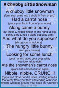 A chubby little snowman poem!