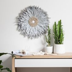 Tribal Feather Wall Hanging - Dove Grey Tribal Feather, Dove Grey, Wall Hangings, Decorations, House, Design, Home Decor, Decoration Home, Home