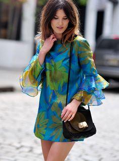 mini blouse dress (a short is the secret)